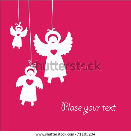 template-greetings cards with angels