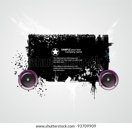 Template grunge party. Vector