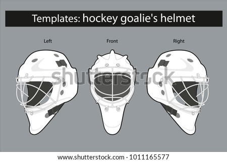 Hockey mask vector download free vector art stock graphics images template hockey goalies helmet for drawing patterns and staining patterns maxwellsz