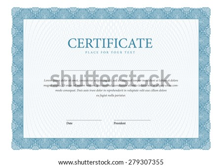 template horizontal Certificate and diplomas Vector