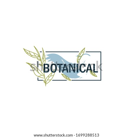 template logo botanical for you