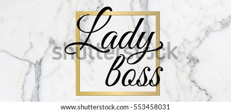 template logo lady boss marble
