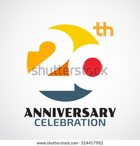 Shutterstock Template Logo 20th anniversary with a circle and the number 20 in it and labeled the anniversary year.