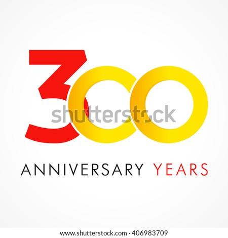 template logo 300th anniversary