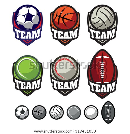 template logos for sports teams
