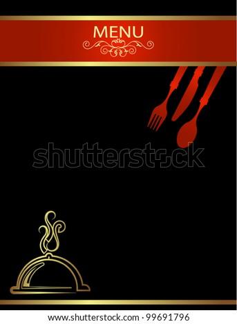 template menu design