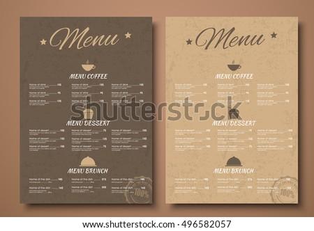brown menu templates download free vector art stock graphics images