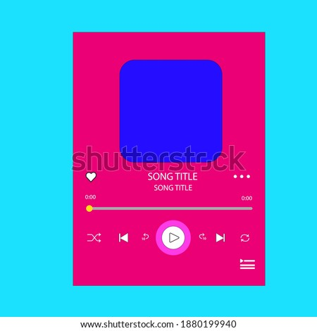 template music player for handphone.