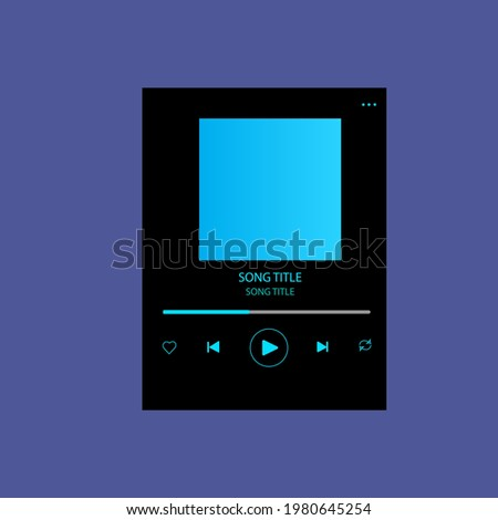 template music player for handphone. spotify template.
