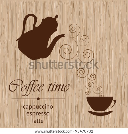 Template of a coffee menu