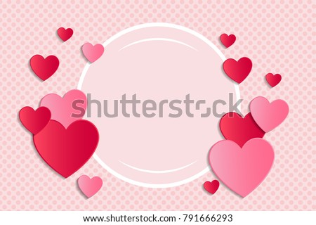 Template of banner for Valentine's Day, Mother's Day or Women's Day. Vector.