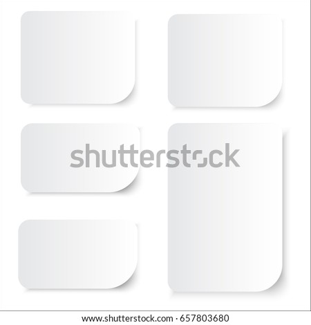 template of blank white note