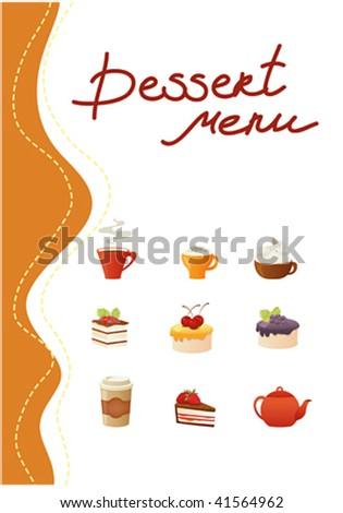 dessert menu templates free. Black Bedroom Furniture Sets. Home Design Ideas