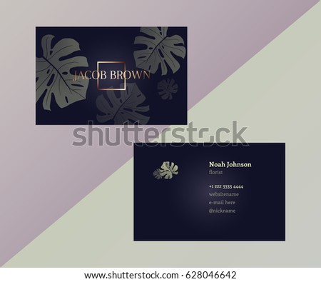 Free Geometric Business Card Vector Template Download Free Vector