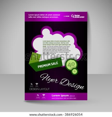 template of flyer for business brochures presentations websites