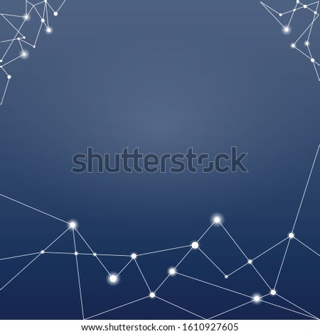 Template of futuristic for network communications and connections in globalizations world. Line and dots connected togheter look like atom in chemical.