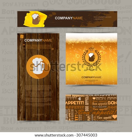 template of identity for beer