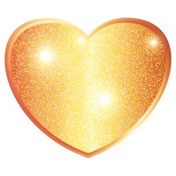 Template of Luxury greeting card for Valentines Day. Shining golden hearts on a transparent background.