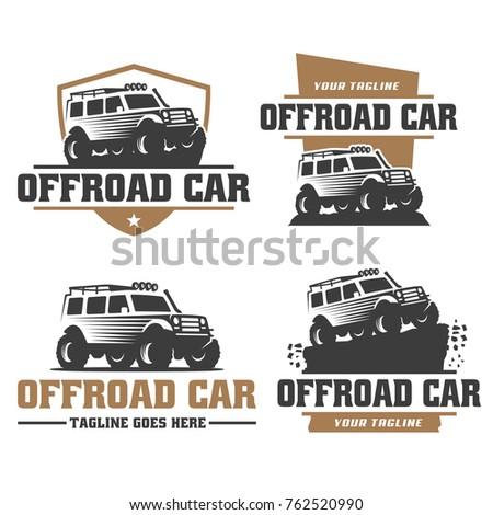 Royalty Free Set Of Suv Pickup Car Vector Emblems 373139668 Stock