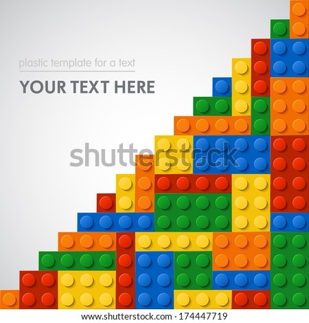 Template of plastic parts for text 5 colors Enjoy