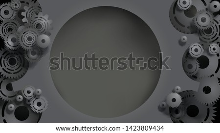 template of realistic 3d black