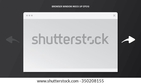 Template of simple browser window.