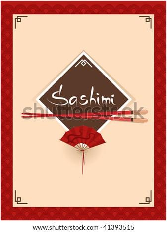 template of sushi menu