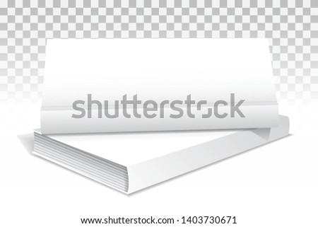 Template of two books in hardcover. The first vertical front view. Layout for your business, creative illustration. Isolated on transparent background. Vector Stock photo ©