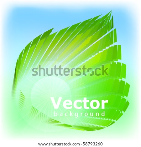 Template on ecological subjects. Vector