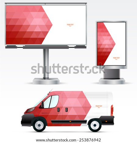 template outdoor advertising or