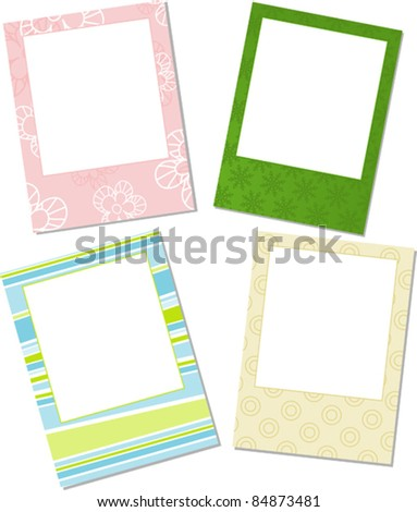 Template photo frames, vector illustration - stock vector