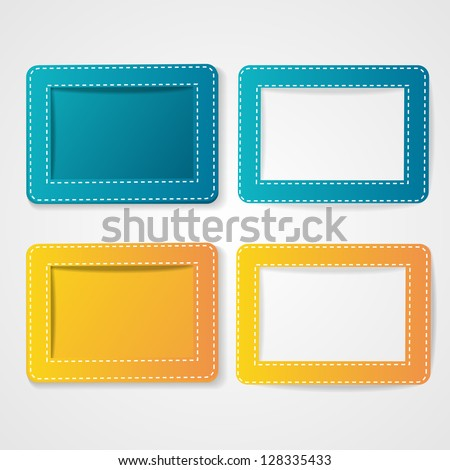Template photo frames, vector illustration. EPS10.