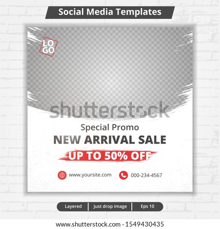 template post for social media, template for fashion sale ads, file with layered and eps 10