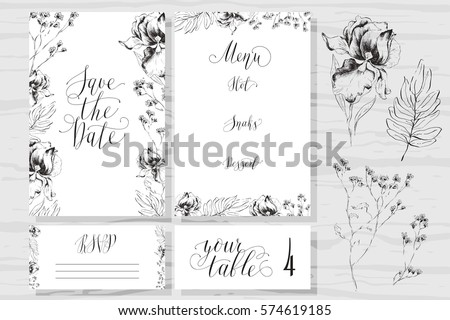 rustic wedding invitation design template include rsvp card sa