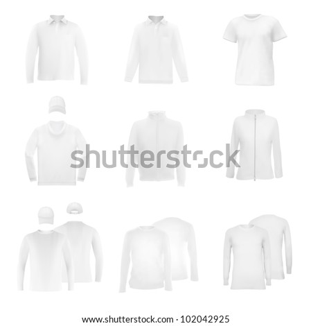 Long Sleeve Shirt Vector Template Template Set Long Sleeve