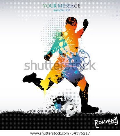 Template sports training . Vector illustration.