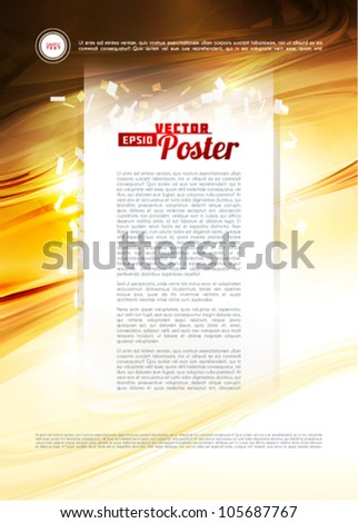Template textured wood and paper abstract. Vector