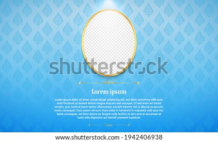 Template thai pattern background for greeting card, advertising, web site, flyers, posters with modern line Thai pattern traditional concept. Perfect realistic