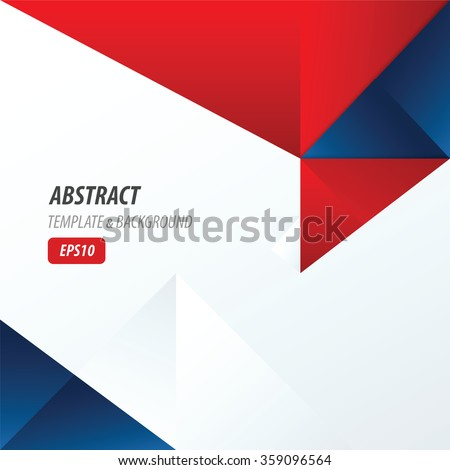 stock-vector-template-triangle-red-and-blue-color