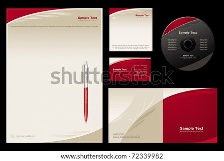stock-vector-template-vector-background-blank-card-cd-note-paper-cover-pen