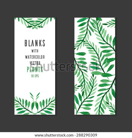 template vector blank with