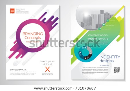 Template vector design for Brochure, Annual Report, Magazine, Poster, Corporate Presentation, Portfolio, Flyer, infographic, layout modern with colorful size A4, Front and back, Easy to use and edit.