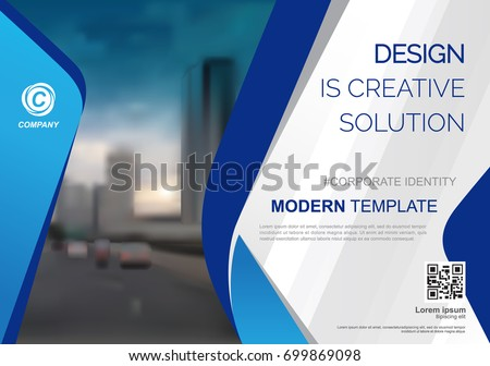 Template vector design for Brochure, Annual Report, Web design  Poster, Corporate Presentation, Flyer, layout modern with blue color size horizontal, Easy to use and edit.