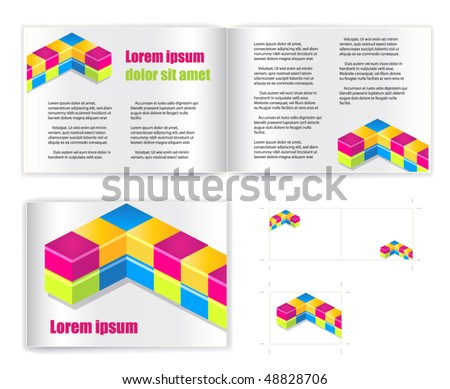 Template vector for print (presentation) - stock vector