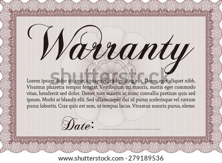 Template Warranty. With sample text. With sample text. Very Customizable.