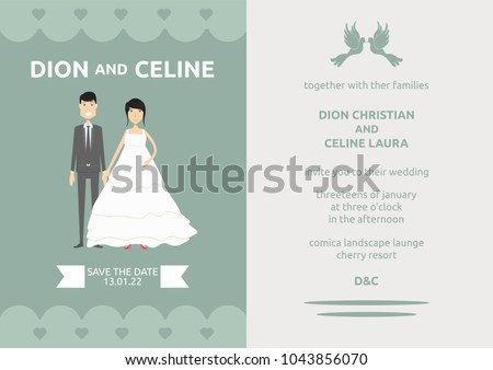 Template Wedding Invitation