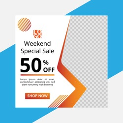 template weekend special sale for social media post