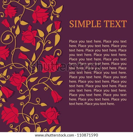 Template with floral ornament