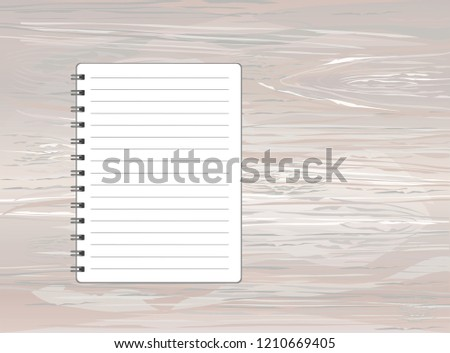 Template With Spiral Notebook Vector On Wooden Background Diary For Business The Design