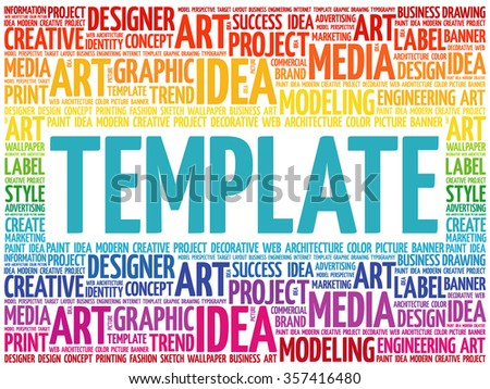 Template word cloud creative business concept background ez canvas template word cloud creative business concept background maxwellsz